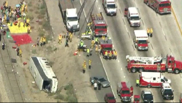 Bus Accident 210 Freeway Irwindale